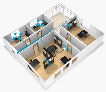 Mehr-Raum Klimaanlagen für Klimatisierung in Büro und Praxis